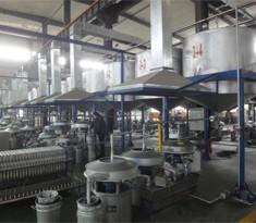 Aluminum paste filtering plant designed for optimizing high purity pigment material