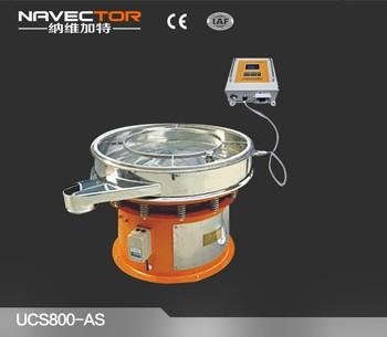 Circle Ultrasonic Vibration Sieve Shaker Machine for Chemical Powders SS304
