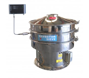 Circle Ultrasonic Vibration Sieve Shaker Machine for Chemical Powders SS304