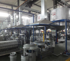 Aluminum paste filtering plant designed for optimizing high purity pigment material
